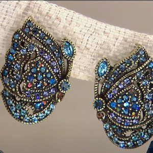 "HEIDI DAUS ""Jeweled Wings"" BUTTERFLY Earrings"